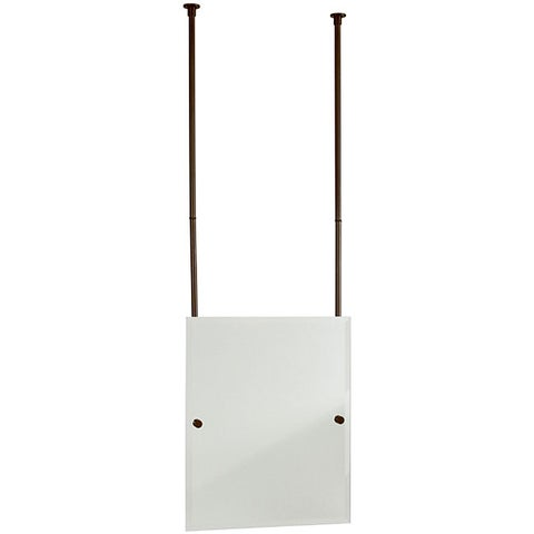 Allied Brass Rectangular Beveled Edge Ceiling-hung Mirror