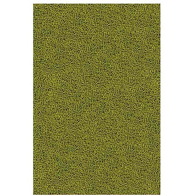 Hand-woven Green Wool Rug (5' x 8')