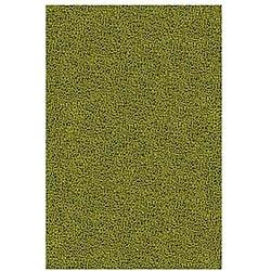 Hand-woven Green Wool Rug (5' x 8') - Thumbnail 0