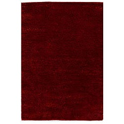 Shaggy Red Rug (4' x 6')