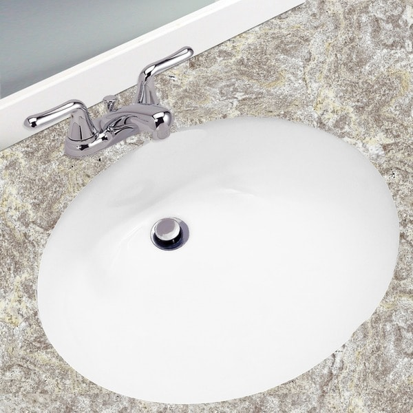 Ordinaire Oval White 17x14 Inch Undermount Vanity Sink