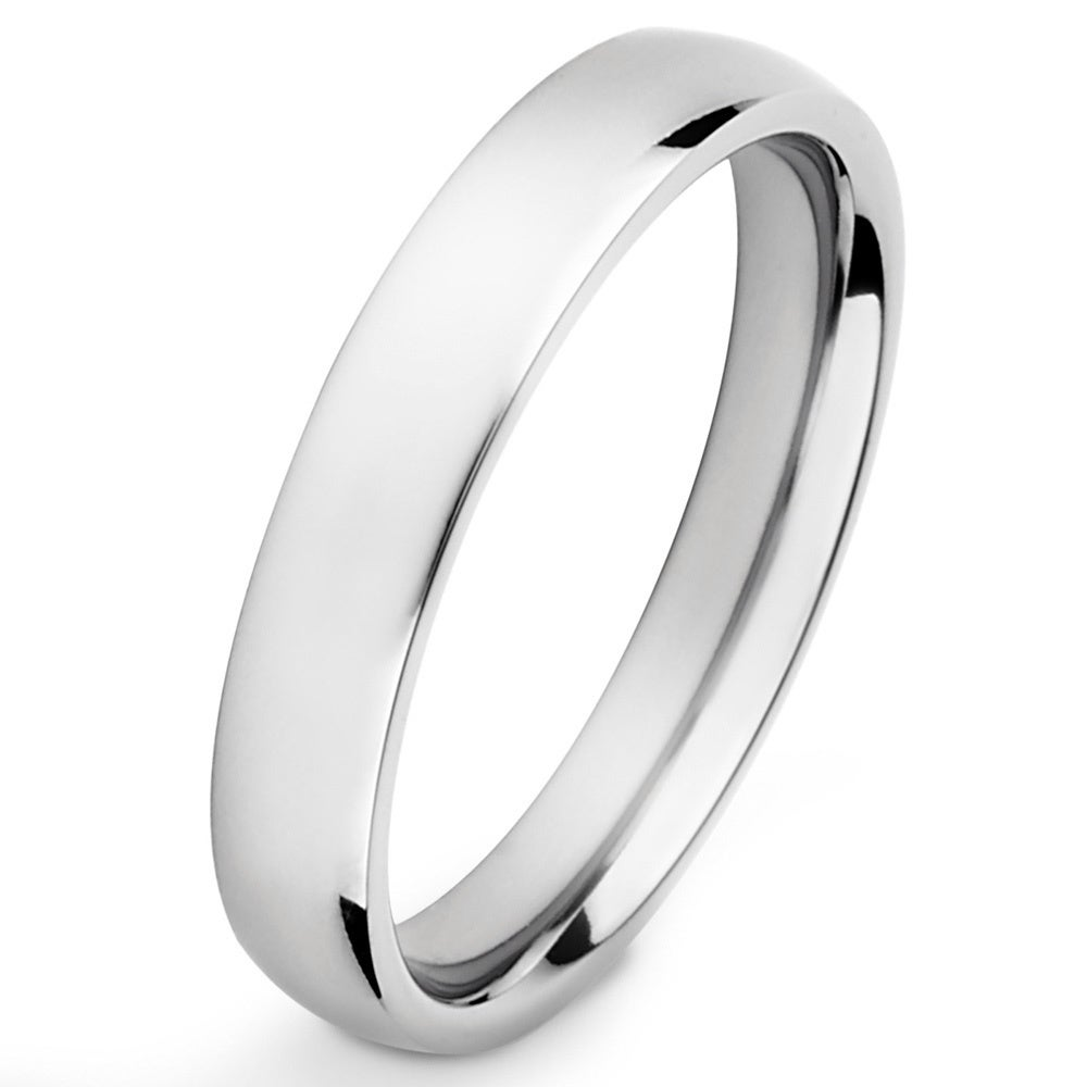 Black Plated 4mm TITANIUM Ring Band with Highly Polished Finish New size 5