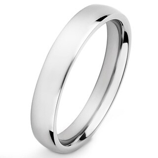 Men's High Polish Titanium Traditional Wedding Band - 4mm Wide (More options available)