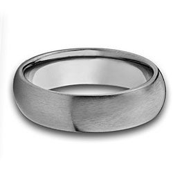 West Coast Jewelry Titanium Thin Comfort Fit Domed Band (4 mm) - Thumbnail 1