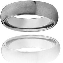 West Coast Jewelry Titanium Thin Comfort Fit Domed Band (4 mm) - Thumbnail 2