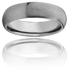 Men's Titanium Domed and Brushed Comfort-fit Band (7 mm) - Thumbnail 2