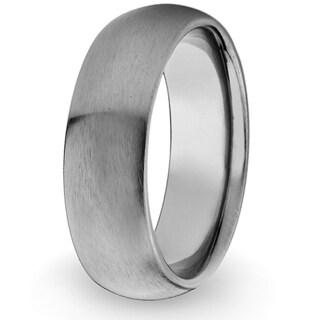 Men's Titanium Domed Brushed Band (8 mm)