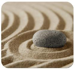 'Zen Garden' Deluxe Antimicrobial Mouse Pad