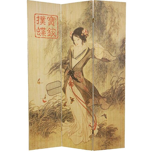 Asian Beauty 6-foot Bamboo Room Divider (China)