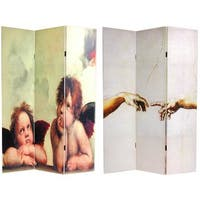 Handmade Canvas Double-sided Cherubs Room Divider (China)