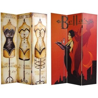 Handmade Canvas Double-sided Mannequin and Singer Room Divider (China)
