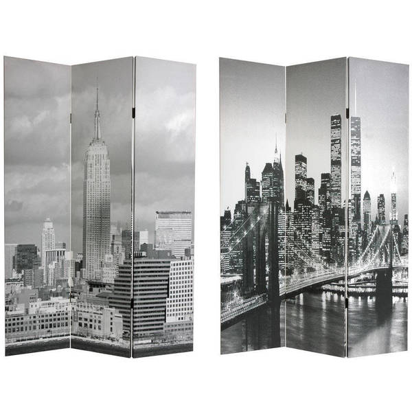 Shop Handmade Canvas New York City Double sided Room Divider China