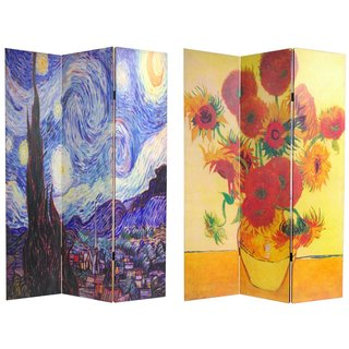 Handmade Canvas Double-sided Van Gogh Paintings Room Divider (China)
