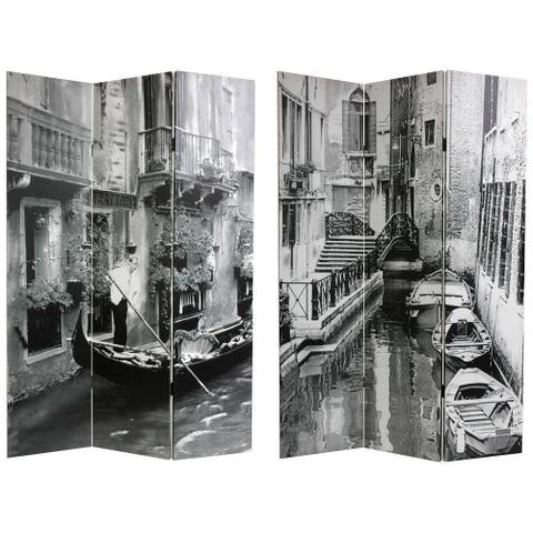 Canvas Venice Canal Double-sided Room Divider (China)