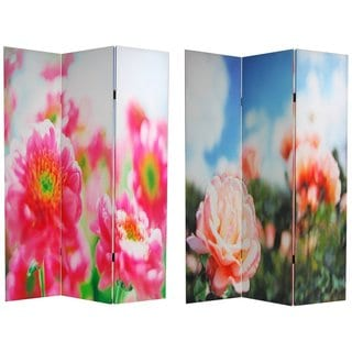 Canvas Double-sided Summer Flowers Room Divider (China)