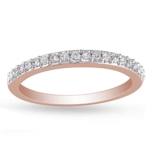 Miadora 10k Pink Gold 1/4ct TDW Diamond Ring