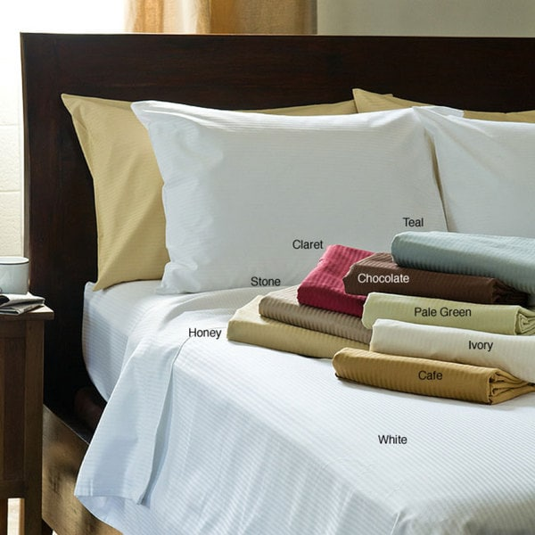 Woven Stripe 600 Thread Count Sheet Set