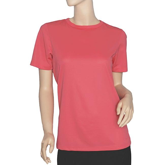 Nordic Track Women's Pink Coral Short-sleeve Crewneck Tee