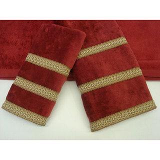 Sherry Kline Triple Row Fancy Gimp 3-piece Towel Set