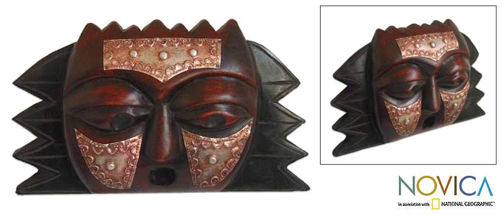Ghanaian 'Protective Star' Wood Mask (Ghana)