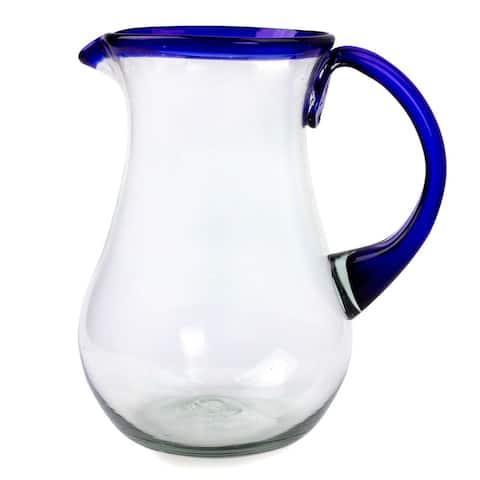 Glass Blue Grace Pitcher