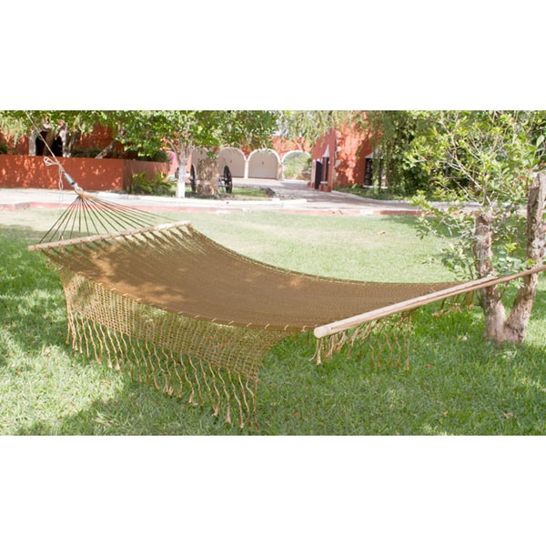 Handmade Maya Bronze Outdoor Garden Patio Pool Copper Color Vintage Look  Knotted Macrame Fringe Nylon Single