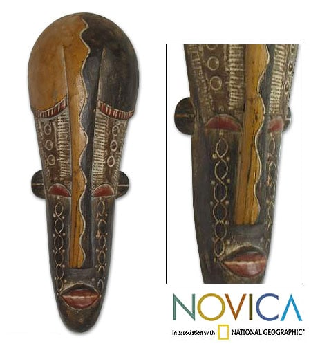 Wood 'Beauty Queen' Mask (Ghana)