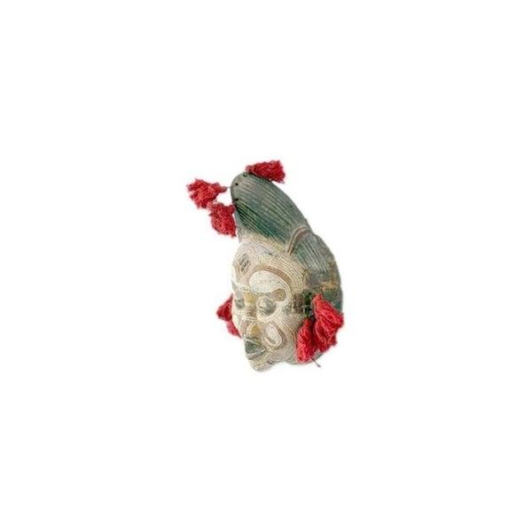 Handmade River Goddess Wood Mask (Ghana)