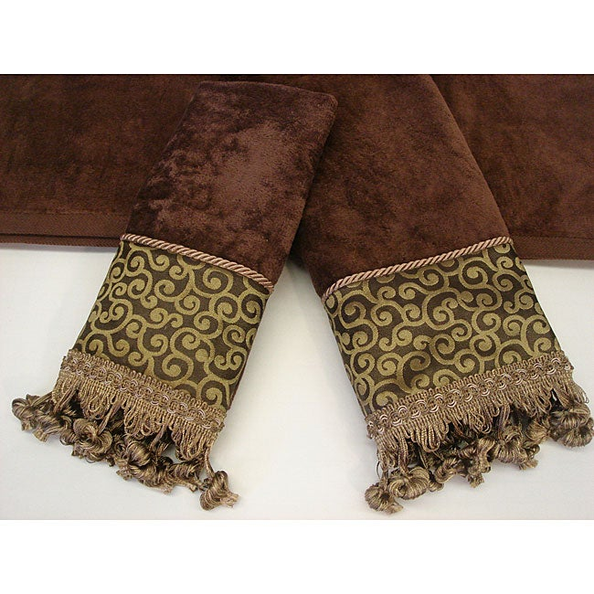 Sherry Kline Waldorf Swirl Decorative 3-piece Towel Set - Thumbnail 0