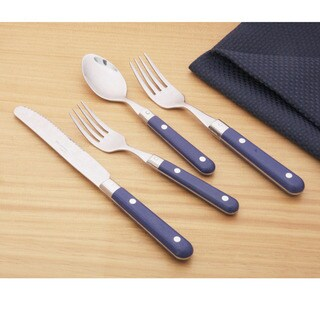 Ginkgo Le Prix Royal Blue Stainless Steel 20-piece Flatware Set (Service for 4)