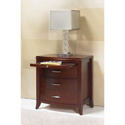 2-drawer Bow Front Nightstand with Tray