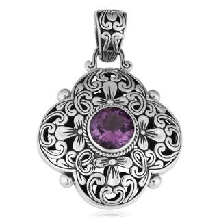 Handmade Sterling Silver 'Cawi' Amethyst Pendant (Indonesia)