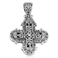 Handmade Sterling Silver Cawi Carvings Pendant (Indonesia)