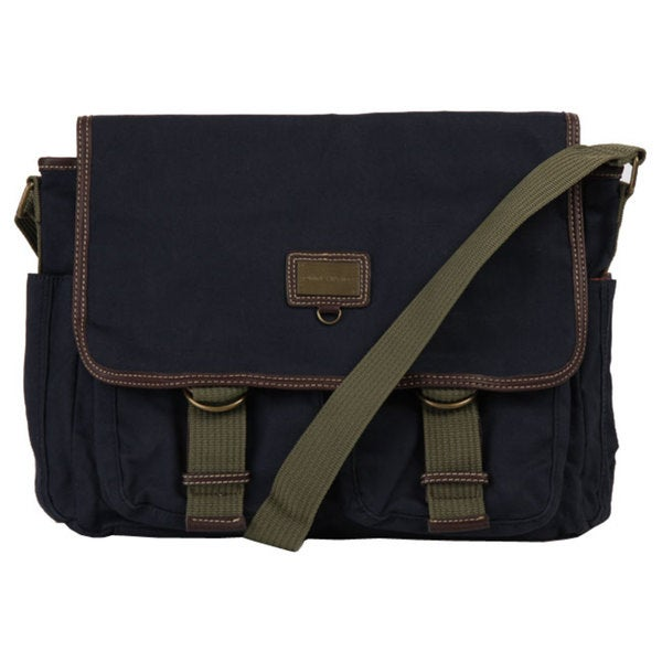 45f042bd78 Shop Tommy Hilfiger Cross Country Canvas Messenger Bag - Free ...