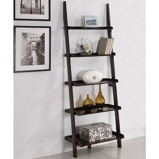 Shop Walnut 5 Tier Ladder Shelf Free Shipping Today