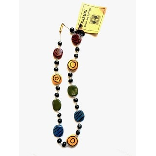 Ceramic 'Jazzy' Multi-colored Necklace (Kenya)