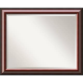 Wall Mirror Large, Cambridge Mahogany 33 x 27-inch - Black - large - 33 x 27-inch
