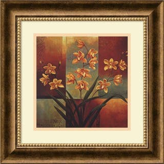 Framed Art Print 'Orange Orchid' by Jill Deveraux 17 x 17-inch|https://ak1.ostkcdn.com/images/products/3942040/P11978173.jpg?impolicy=medium