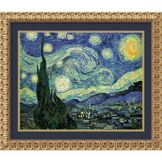 Framed Art Print 'The Starry Night, June 1889' by Vincent van Gogh 32 x 26-inch