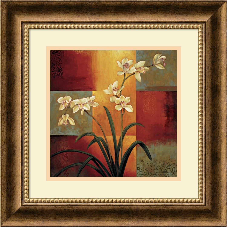 Shop Framed Art Print \'White Orchid\' by Jill Deveraux 17 x 17-inch ...