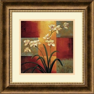 Framed Art Print 'White Orchid' by Jill Deveraux 17 x 17-inch