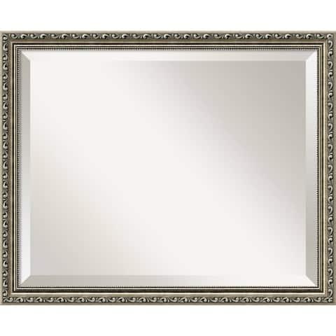Wall Mirror, Parisian Silver Wood - Bronze/Silver/Champagne
