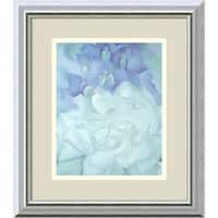 Framed Art Print 'White Rose with Larkspur No.2' by Georgia O'Keeffe 14 x 16-inch