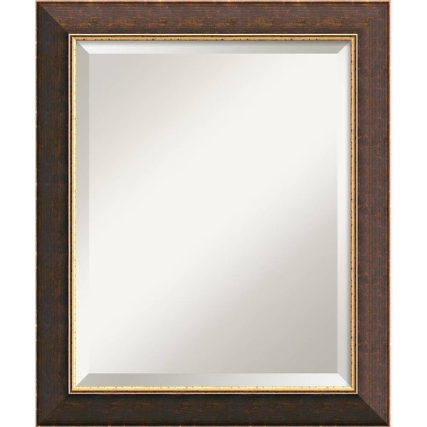 Old World Medium Wall Mirror - Brown