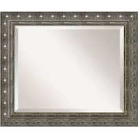 Wall Mirror, Barce Champagne Wood - Pewter/Gold