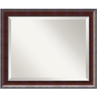 Country Walnut 23 x 19 Medium Wall Mirror