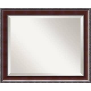 Wall Mirror Medium, Country Walnut 19 x 23-inch