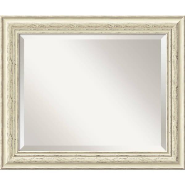 Wall Mirror Medium, Country Whitewash 21 x 25-inch - White