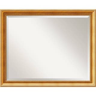 Wall Mirror Large, Townhouse Gold 32 x 26-inch