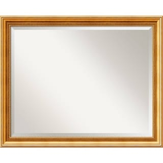 Wall Mirror Large, Townhouse Gold 32 x 26-inch - large - 32 x 26-inch